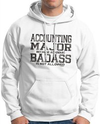 Accounting Major Because Academic Badass is Not Allowed Mens Hoodie