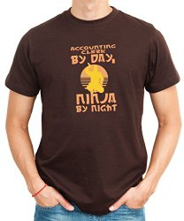 Accounting Clerk By Day Ninja By Night Mens Shirt Brown
