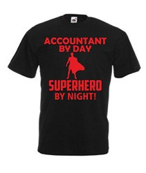 Accountant By Day Superhero By Night Mens Shirt