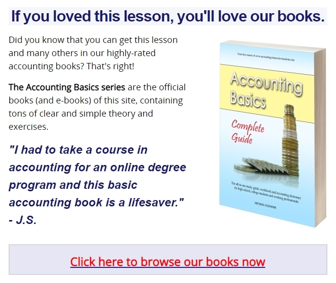 Accounting Basics series of books advertisement