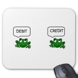 Frog Debit Credit Mousepad