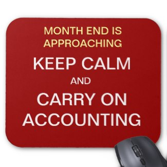 Keep Calm and Carry on Accounting Mouse Pad