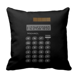 Customizable Maths Calculator Pillow