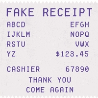 Sample Receipt
