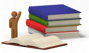 Accounting student and textbooks