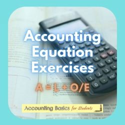 Accounting Equation Exercises Product Page
