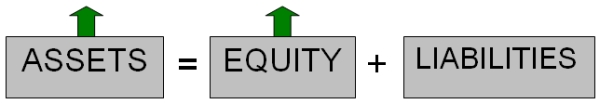 Example of capital - both assets and owners equity increasing