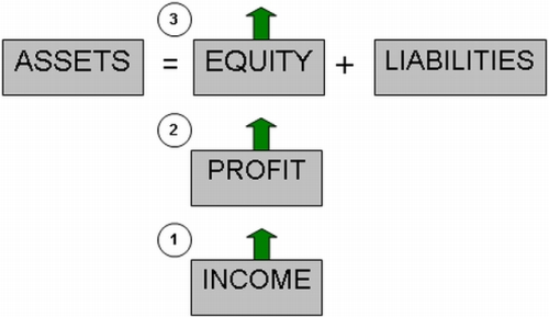 Income = Profit = Owner's Equity