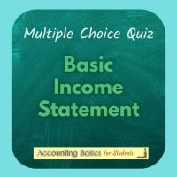 Basic Income Statement Quiz product page